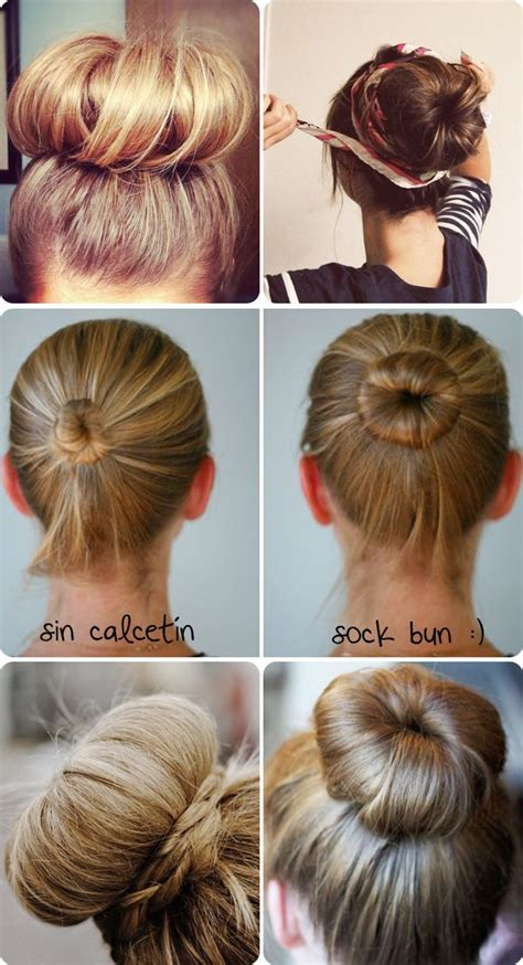 hairstyles sock buns tutorial sock bun long hair hair pinterest sock