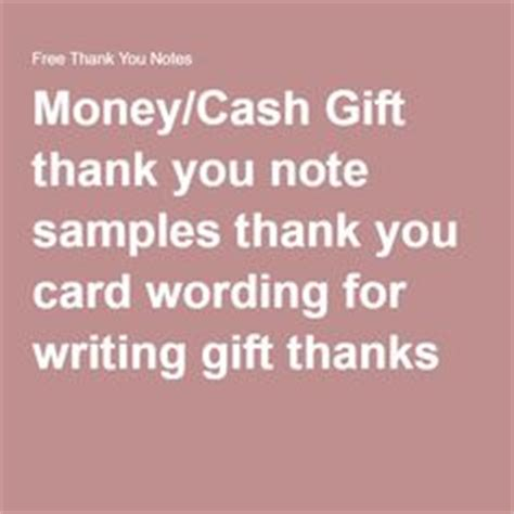 thank you card for money template 1000 ideas about sle thank you notes on
