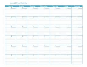 Calendars Templates Blank Monthly Calendar Office Templates