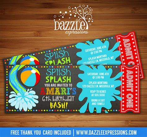 pool party invitation ideas homemade pool party graduation