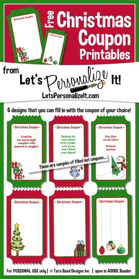 printable xmas coupons create your own christmas coupons great for stocking