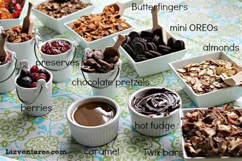 sundae bar topping ideas ice cream archives eat move make