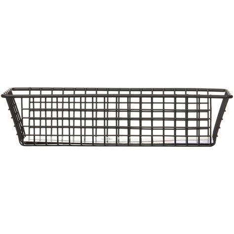 9 inch organizer 3 x 9 inch grid organizer black in wire baskets