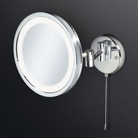Illuminated Magnifying Mirrors For Bathrooms by Hib Halo Led Illuminated Magnifying Mirror 29200