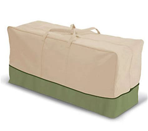 classic accessories eco patio cushion storage bag qvc
