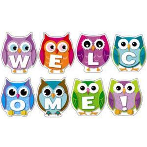 printable owl birthday chart owl classroom theme colorful owl welcome bulletin board