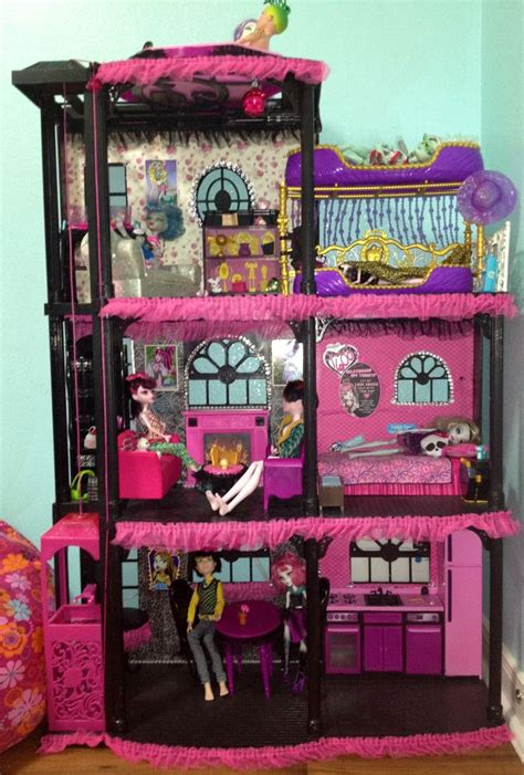 monster high houses monster high house i turned my daughter s barbie dream house into this she asked for