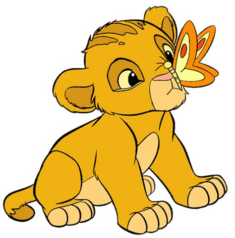 film cartoon simba disney butterfly more lion king clip art disney