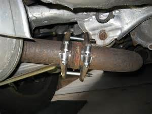 Exhaust System Repair Flange Easy Exhaust Flange Repair On 05 Sedan Muffler To Mid