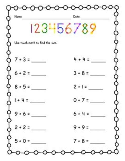Touch Math Worksheets by 17 Best Ideas About Touch Math On Touch Math