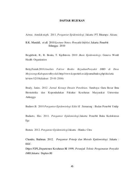 Pengantar Epidemiologi Edisi 2 Dr Eko Budiarto epidemiologi deskriptif penyakit demam berdarah dengue di kelurahan k