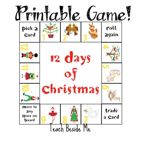 educational christmas games printable 50 best 12 days of christmas images on pinterest
