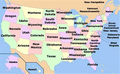 list of all states in usa learn states and capitals of the united states