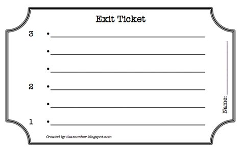 exit card template exit ticket template cyberuse