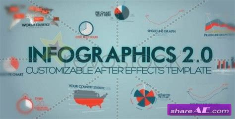 infographics version 2 after effects project revostock