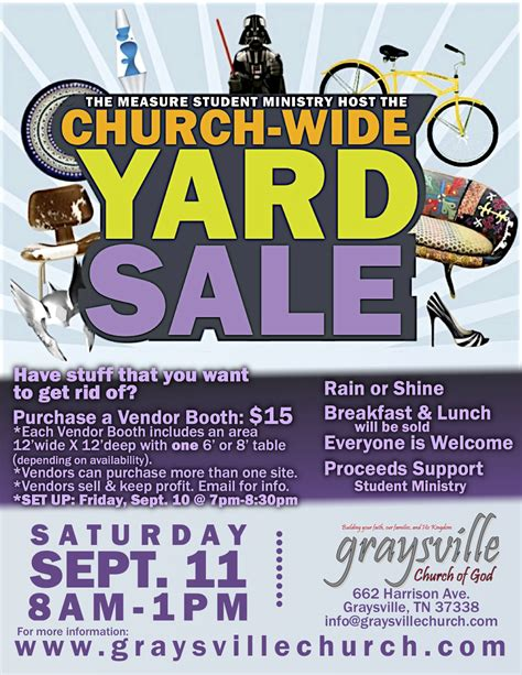 yard sale flyer template church yard sale flyer quotes