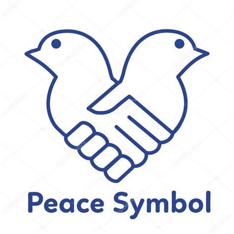 imagenes sobre simbolos de la paz ilustraci 243 n de vector de s 237 mbolo de paz concepto de