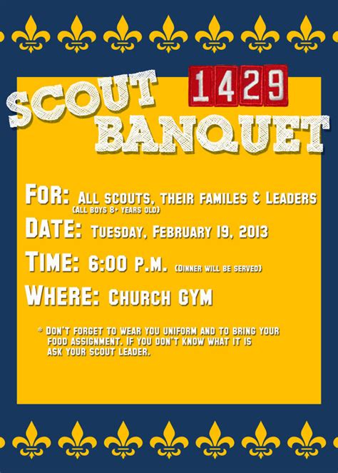 boy scout or cub scout invitation card 5x7 psd template