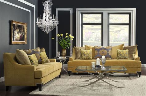 Living Room Gold Sofa Viscontti Gold Living Room Set From Furniture Of America