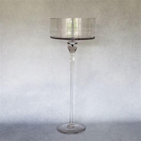 70cm Vase by 70cm Stemmed Glass Vase Flamboijant Decor Hire