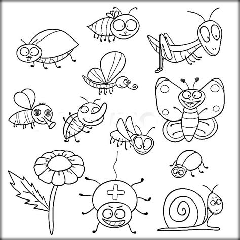 insects coloring pictures color zini