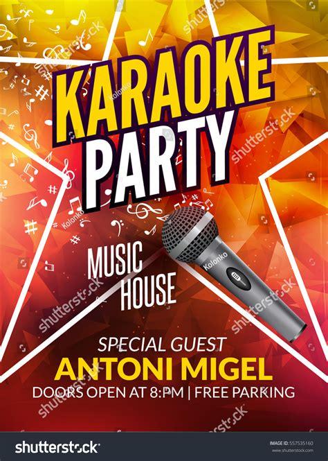 flyer template karaoke night party karaoke party invitation poster design template stock