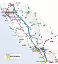 ca proposed high speed routes pre 2005 high speed rail