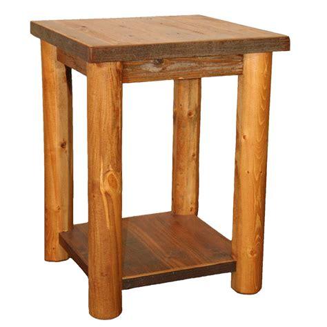 Shelf Nightstand by Barnwood Leg Standard Nightstand With Shelf