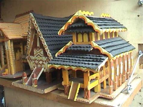 kerajinan membuat rumah dari kayu kerajinan miniatur rumah adat dari limbah kayu