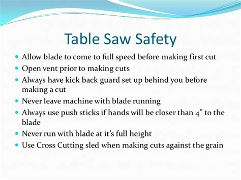 Table Saw Safety by General Shop Safety