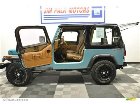jeep wrangler teal 1995 teal pearl jeep wrangler s 4x4 62758206 photo 25