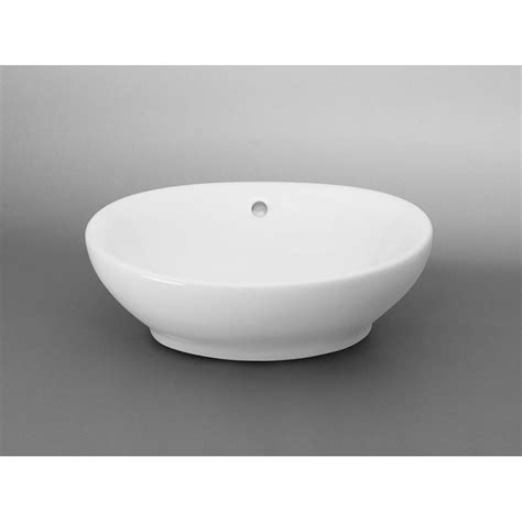 ronbow glass vessel sinks ronbow oval ceramic vessel bathroom in white 200104 wh