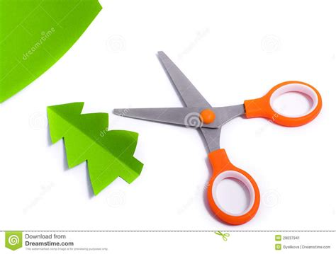How To Make Scissors Out Of Paper - scissors cut out fir of paper stock image image 28037941