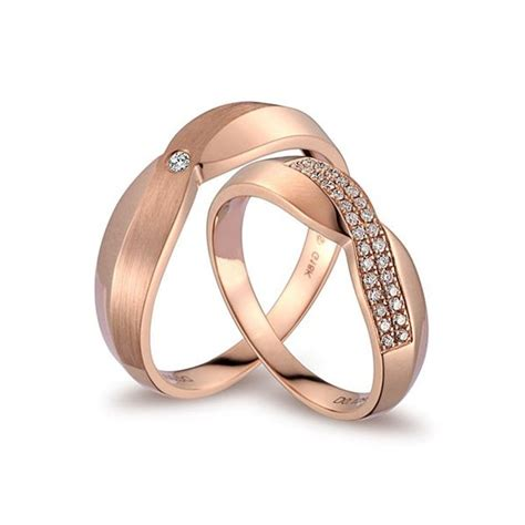 Paar Ringe Gold by Handcrafted Marriage Rings Half Carat On 18k Gold