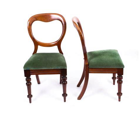 antique set  ten victorian balloon  dining chairs
