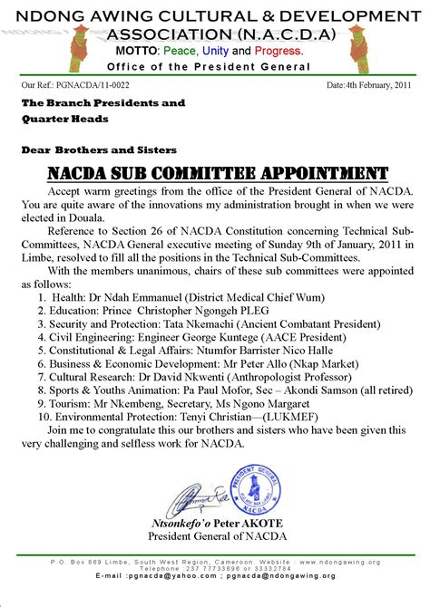 appointment letter committee member 100 appointment letter committee member appointment