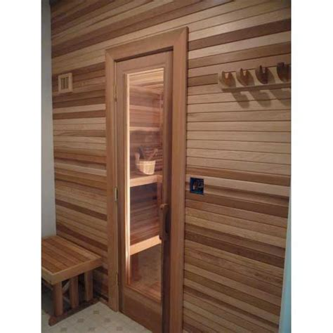 Residential Sauna Door 16 Quot X 55 Quot Window Cedar Rails Sauna Glass Door