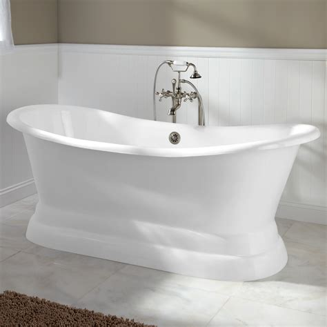 ys 2008d cast iron slipper tub with monarch