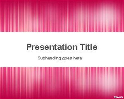 template ppt pink free pink noise powerpoint template