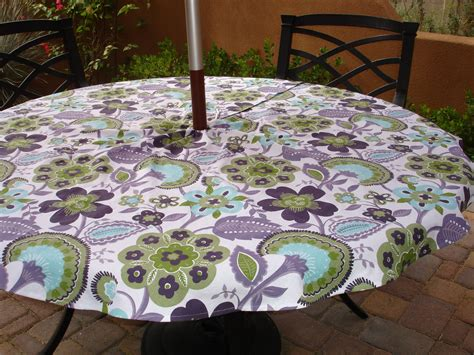 Patio Table Cloth Umbrella Tablecloth Patio Table Tablecloth By Kaysgeneralstore