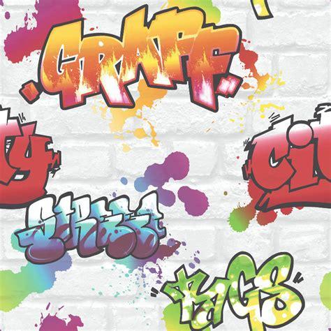 graffiti wallpaper for sale rasch graffiti wallpaper 272901 white cut price