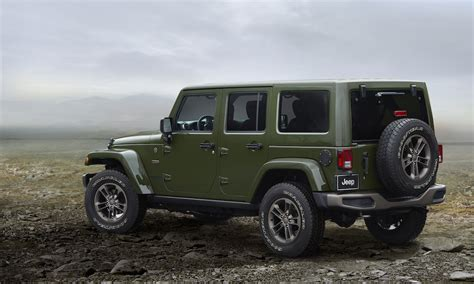 Jeep Wrangler Unlimited Edition Jeep S 75th Anniversary Check Out 6 Special Edition Models
