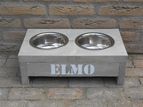 steigerhouten voerbak voerbak voor hond of poes in steigerhout
