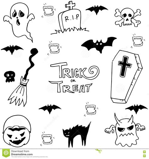 doodle ghost cat and ghost doodle stock vector image 73257709