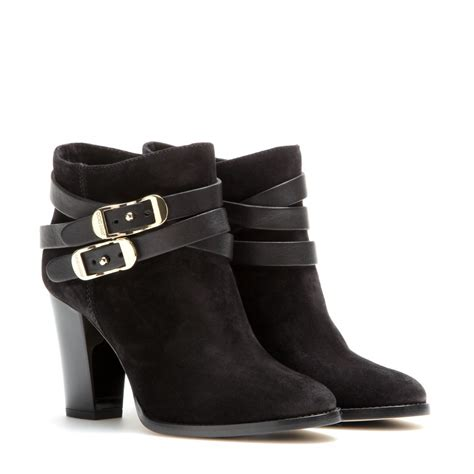 10 Jimmy Choo Boots by Lyst Jimmy Choo Melba Suede Ankle Boots In Black