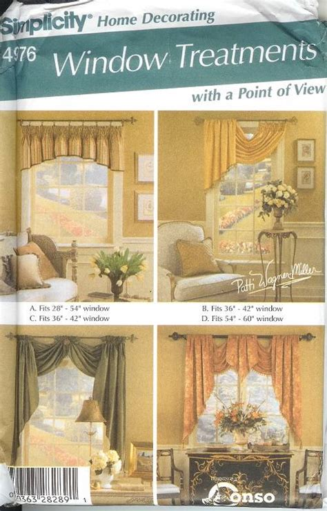 home decor sewing simplicity window treatment covering curtains drapes home