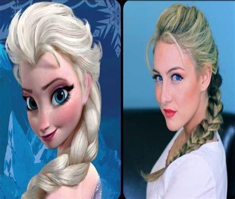 frozen hair designs disney hairstyle frozen elsa hair make up pinterest
