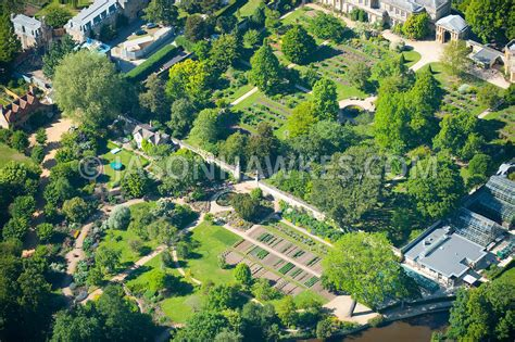 Aerial View Aerial View Of University Of Oxford Botanic Oxford Botanic Garden