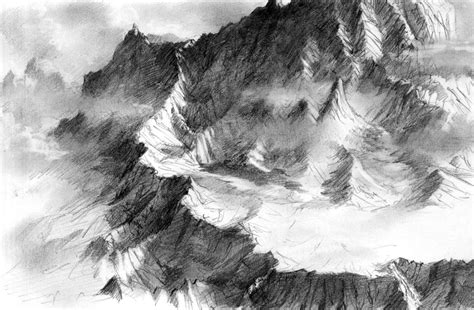Drawing Mountains by How To Draw Mountain Range