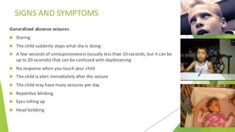 signs of a seizure in a seizure in children